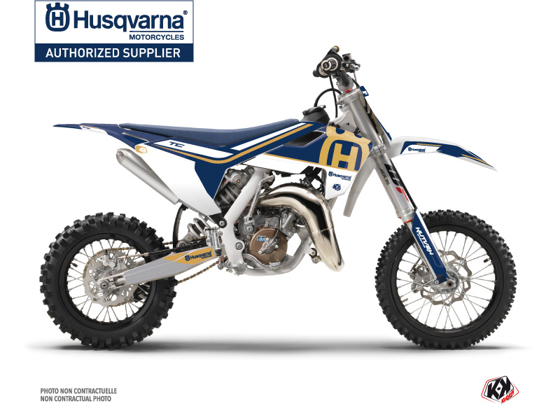 Husqvarna TC 65 Dirt Bike Heritage Graphic Kit Blue