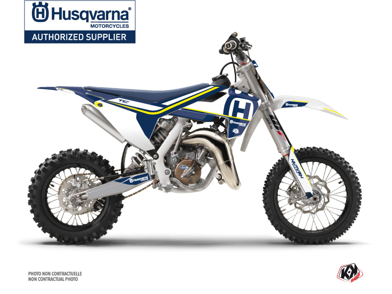 Husqvarna TC 65 Dirt Bike Heritage Graphic Kit Blue White