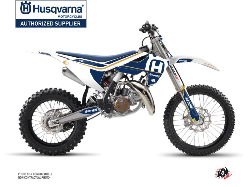 Husqvarna TC 85 Dirt Bike Heritage Graphic Kit White