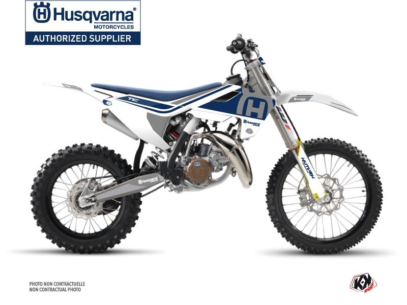 Husqvarna TC 85 Dirt Bike Heritage Graphic Kit White Grey