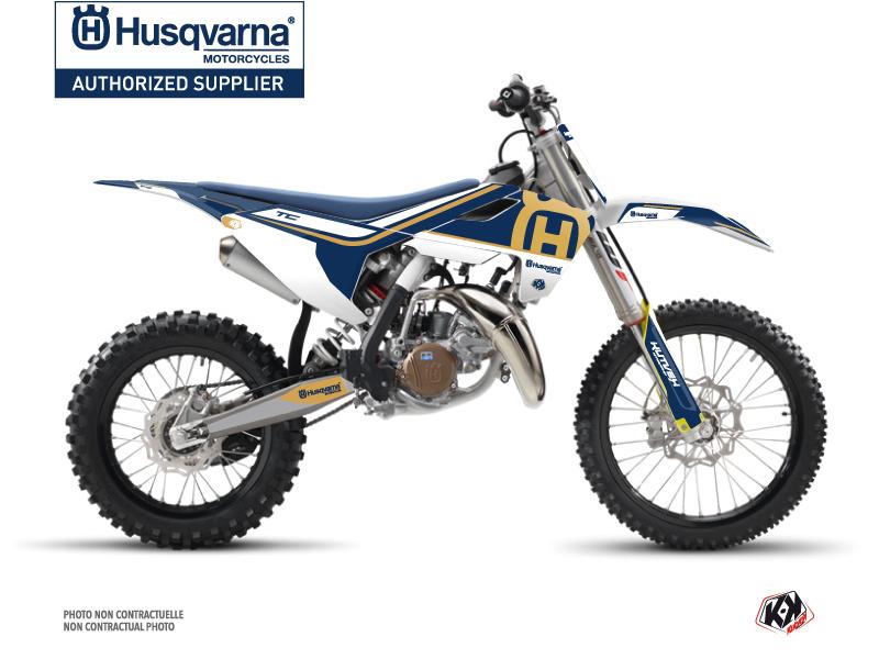 Husqvarna TC 85 Dirt Bike Heritage Graphic Kit Blue
