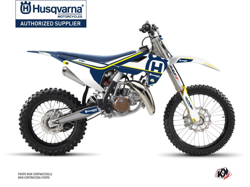 Husqvarna TC 85 Dirt Bike Heritage Graphic Kit Blue White