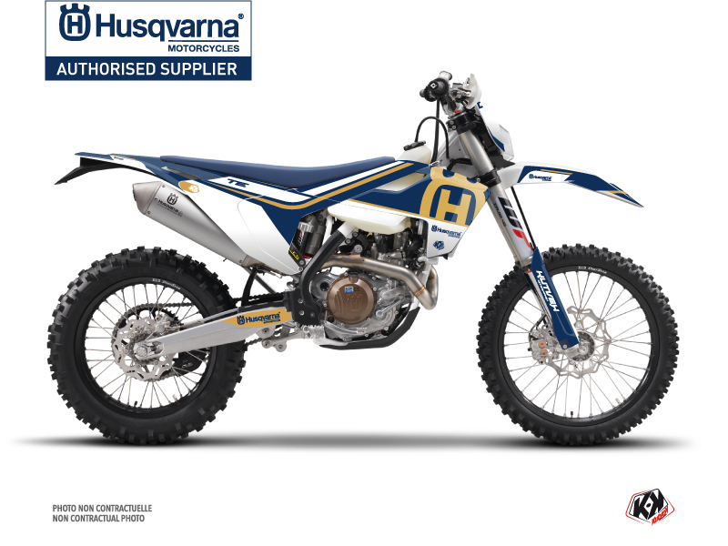 Husqvarna 125 TE Dirt Bike Heritage Graphic Kit Blue