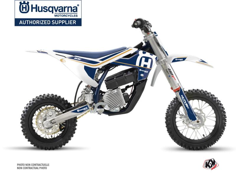 Kit Déco Moto Cross Heritage Husqvarna EE-5 Blanc