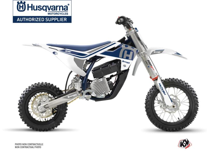 Husqvarna EE-5 Dirt Bike Heritage Graphic Kit White Grey