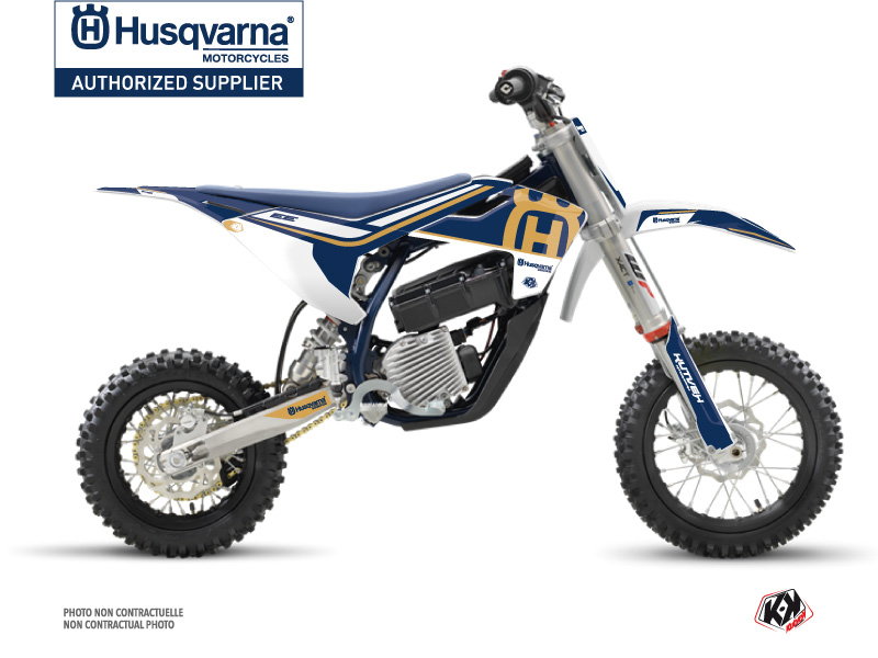 Kit Déco Moto Cross Heritage Husqvarna EE-5 Bleu