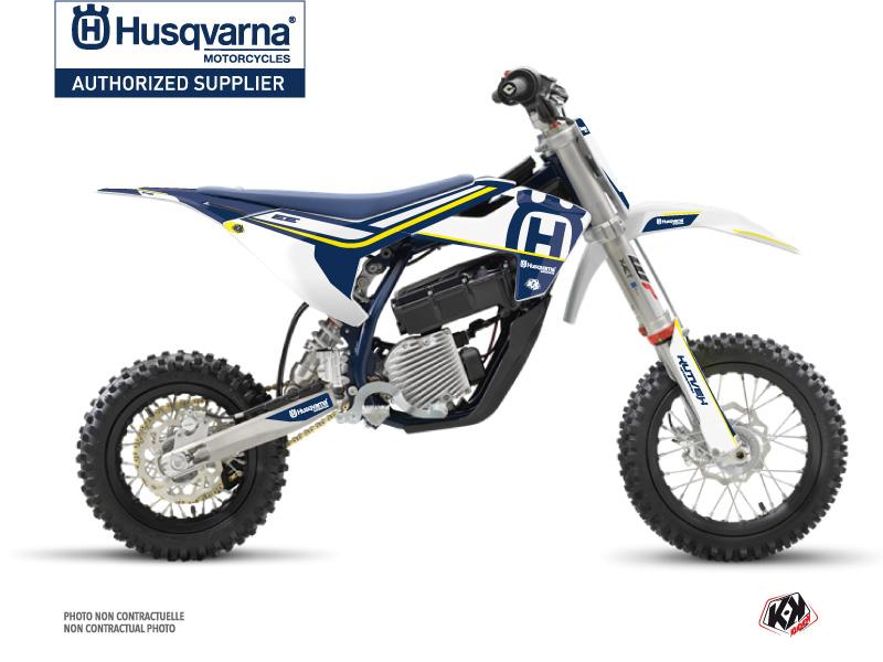 Kit Déco Moto Cross Heritage Husqvarna EE-5 Bleu Blanc
