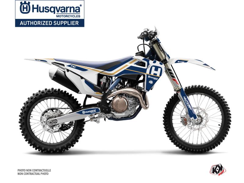 Husqvarna TC 250 Dirt Bike Heritage Graphic Kit White