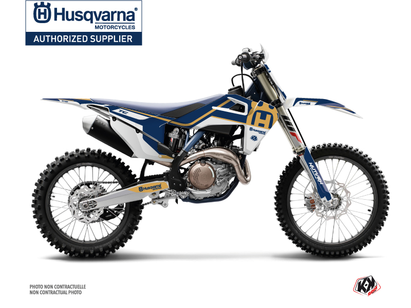 Husqvarna TC 250 Dirt Bike Heritage Graphic Kit Blue