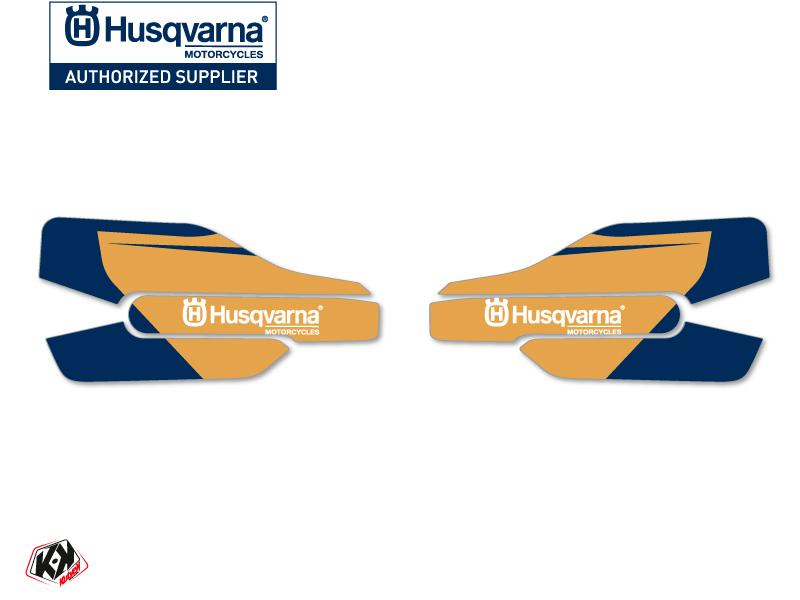 Graphic Kit Hand Guards Stickers Heritage Dirt Bike Husqvarna TC-FC White
