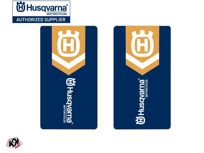 Kit Déco Stickers de fourche Heritage Moto Cross Husqvarna TC-FC TE-FE Blanc