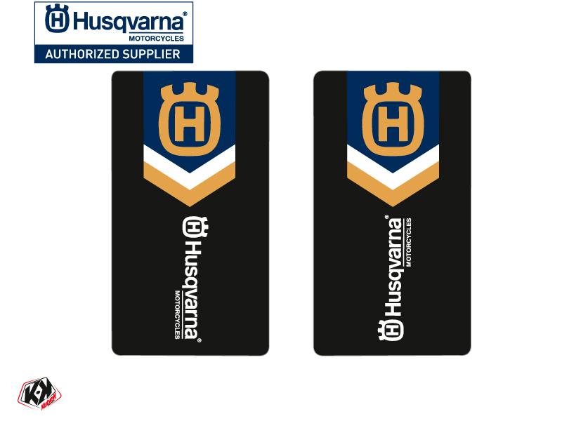 Kit Déco Stickers de fourche Heritage Moto Cross Husqvarna TC-FC TE-FE Bleu