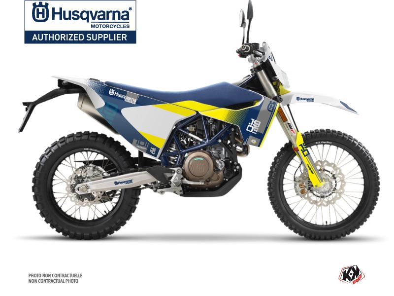 Husqvarna 701 Enduro Dirt Bike Hero Graphic Kit Blue