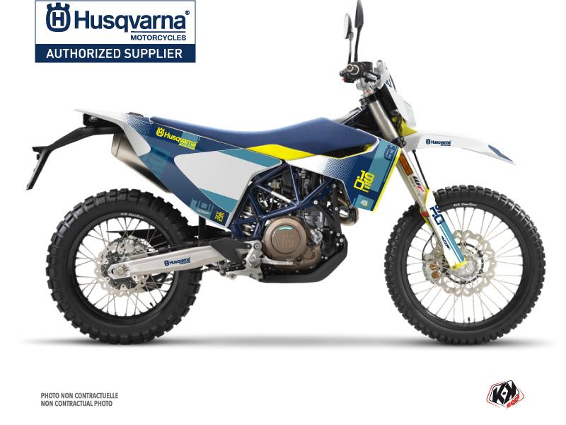 Husqvarna 701 Enduro Dirt Bike Hero Graphic Kit Blue Yellow