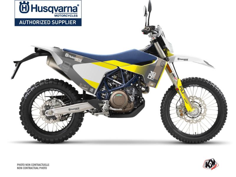 Husqvarna 701 Enduro Dirt Bike Hero Graphic Kit Grey Yellow