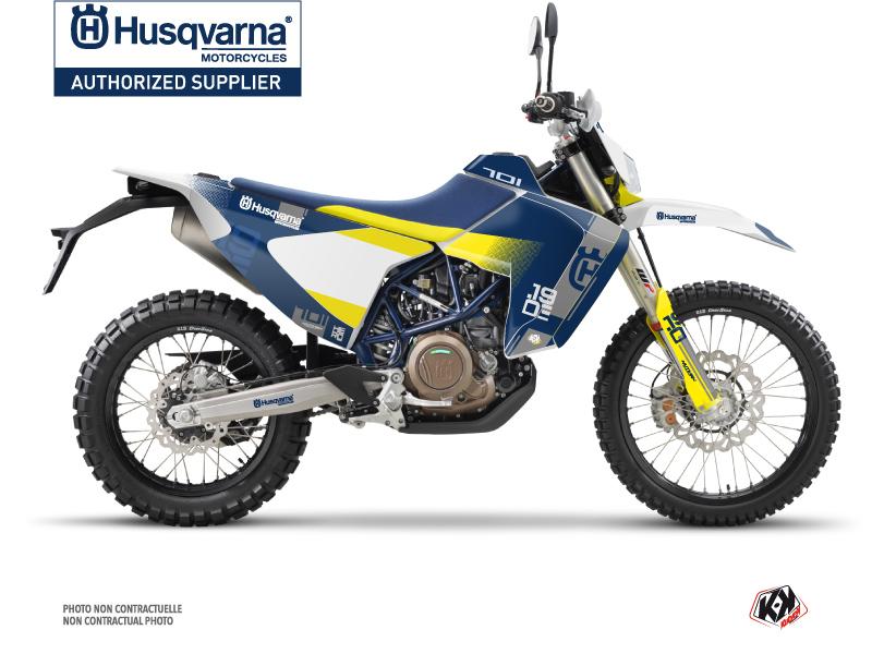 Husqvarna 701 Enduro LR Dirt Bike Hero Graphic Kit Blue