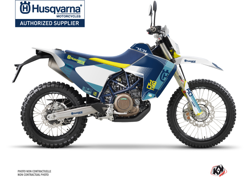Husqvarna 701 Enduro LR Dirt Bike Hero Graphic Kit Blue Yellow