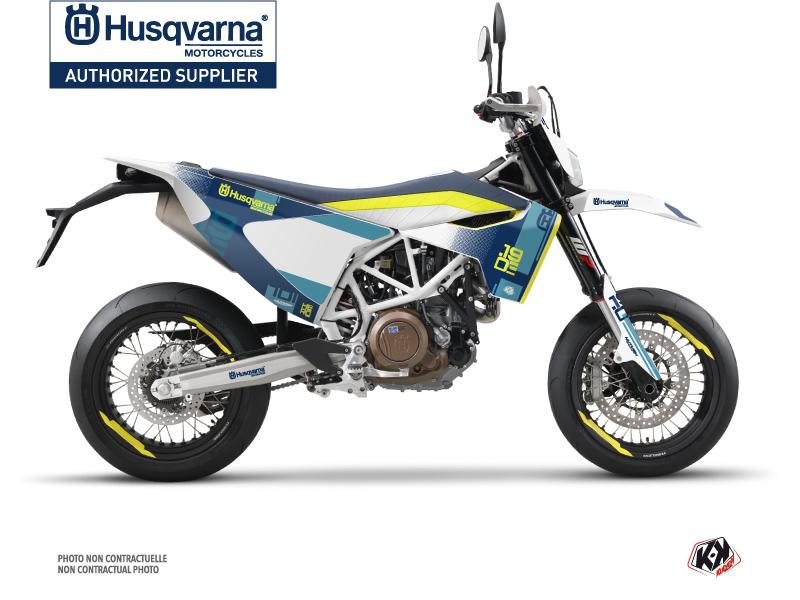 Husqvarna 701 Supermoto Street Bike Hero Graphic Kit Blue Yellow