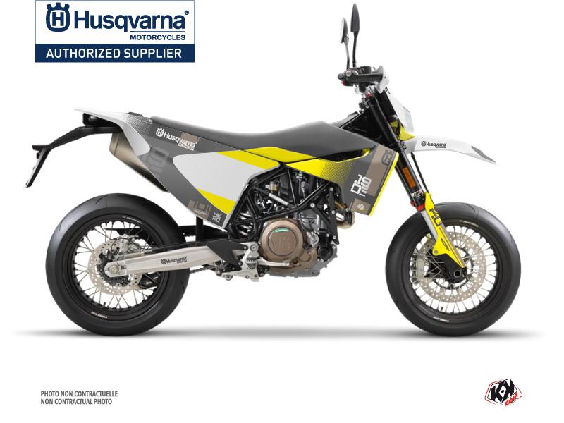 Husqvarna 701 Supermoto Dirt Bike Hero Graphic Kit Grey Yellow