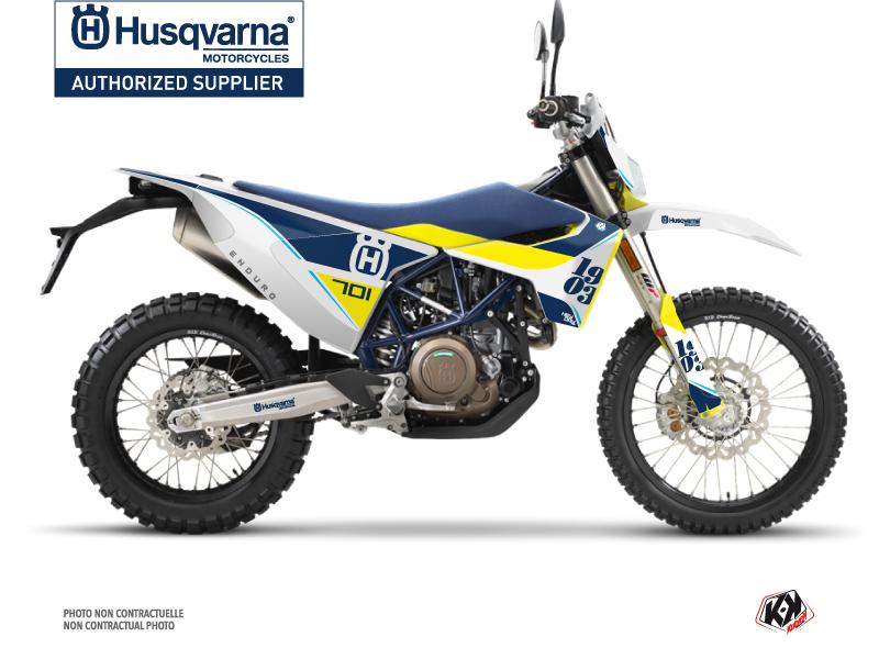 Husqvarna 701 Enduro Dirt Bike Heyday Graphic Kit Blue Yellow