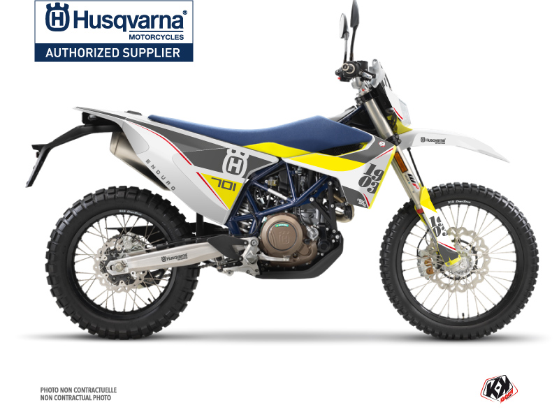 Husqvarna 701 Enduro Dirt Bike Heyday Graphic Kit Grey Yellow
