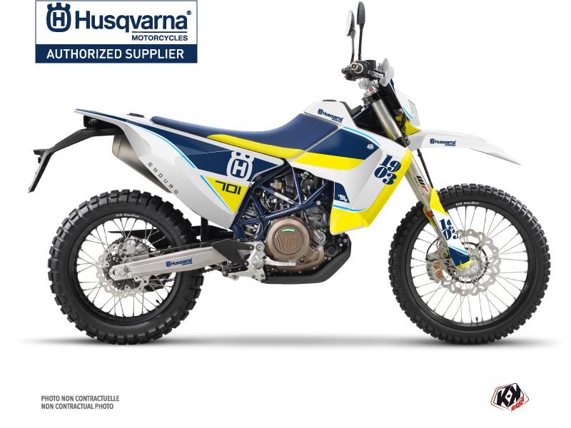Husqvarna 701 Enduro LR Dirt Bike Heyday Graphic Kit Blue Yellow