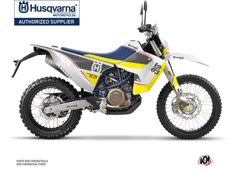 Husqvarna 701 Enduro LR Dirt Bike Heyday Graphic Kit Grey Yellow