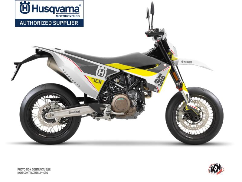 Husqvarna 701 Supermoto Dirt Bike Heyday Graphic Kit Grey Yellow