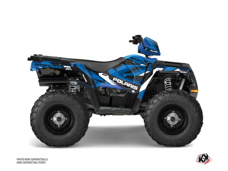 Polaris 570 Sportsman Touring ATV Hidden Graphic Kit Blue White