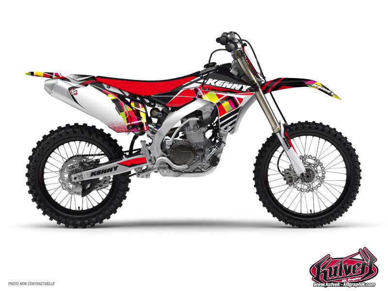 Yamaha 450 YZF Dirt Bike Kenny Graphic Kit Red