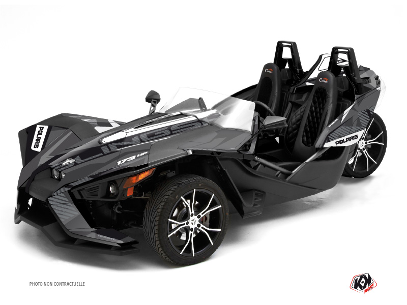 Polaris Slingshot Roadster Knight Graphic Kit Black