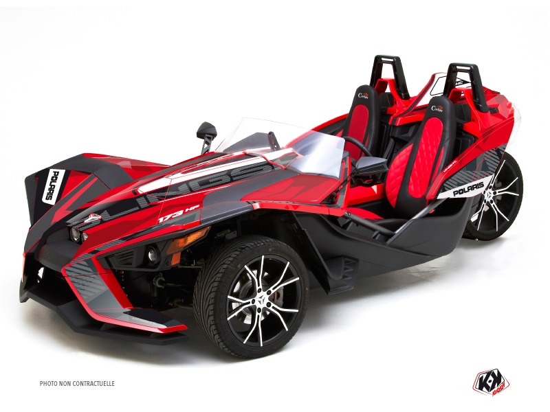 Polaris Slingshot Roadster Knight Graphic Kit Red