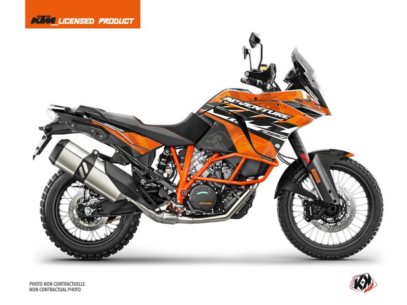 KTM 1090 Adventure R Street Bike Kombat Graphic Kit Orange