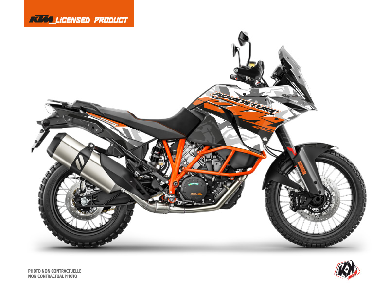 KTM 1190 Adventure R Street Bike Kombat Graphic Kit Grey Orange