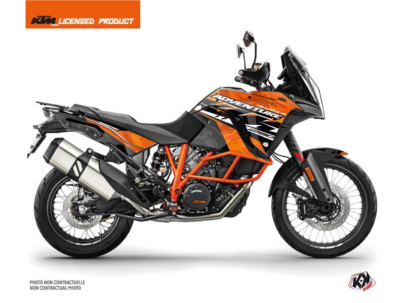 KTM 1290 Super Adventure R Street Bike Kombat Graphic Kit Orange