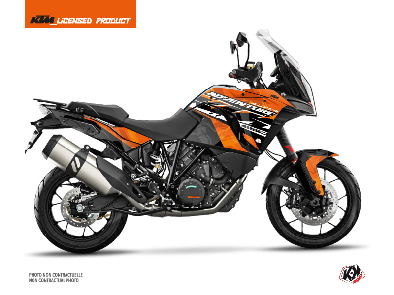 KTM 1290 Super Adventure S Street Bike Kombat Graphic Kit Orange