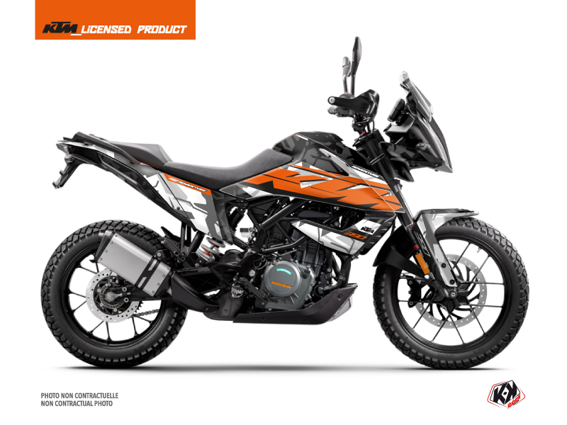 KTM 390 Adventure Street Bike Kombat Graphic Kit Grey Orange