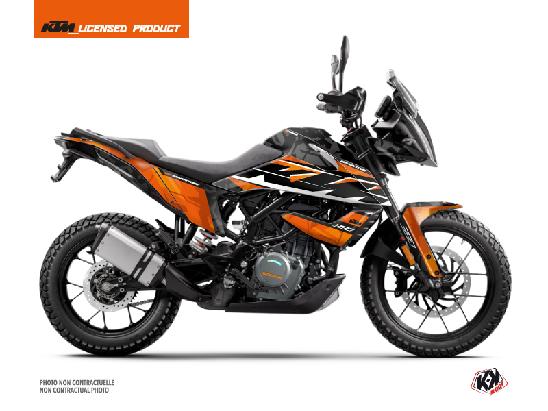 KTM 390 Adventure Street Bike Kombat Graphic Kit Orange