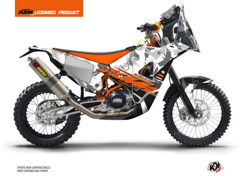 KTM 450 Rally Motocross Kombat Graphic Kit Grey Orange