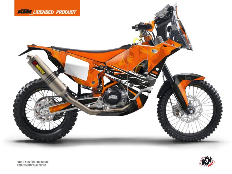 KTM 450 Rally Dirtbike Kombat Graphic Kit Orange