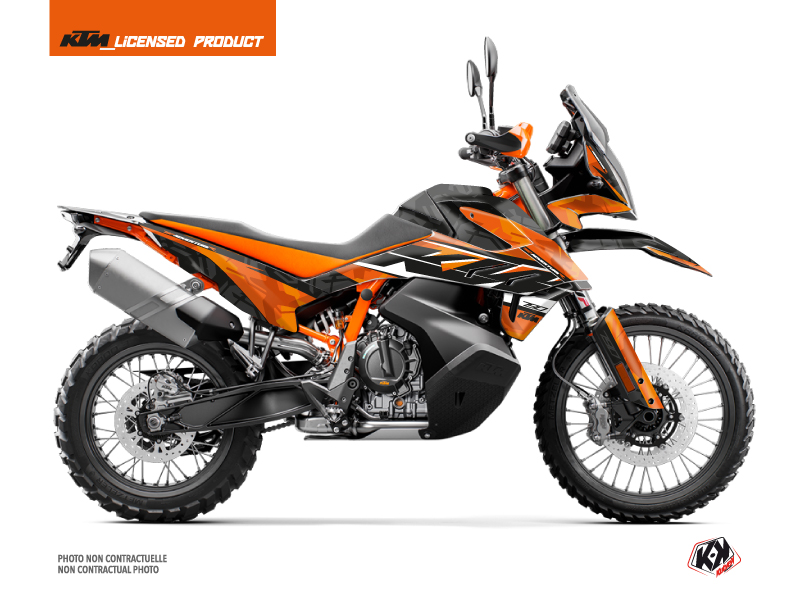 KTM 790 Adventure R Street Bike Kombat Graphic Kit Orange