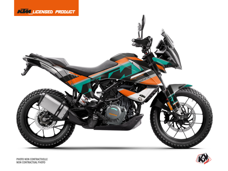 KTM 390 Adventure Street Bike Kontrol Graphic Kit Orange White