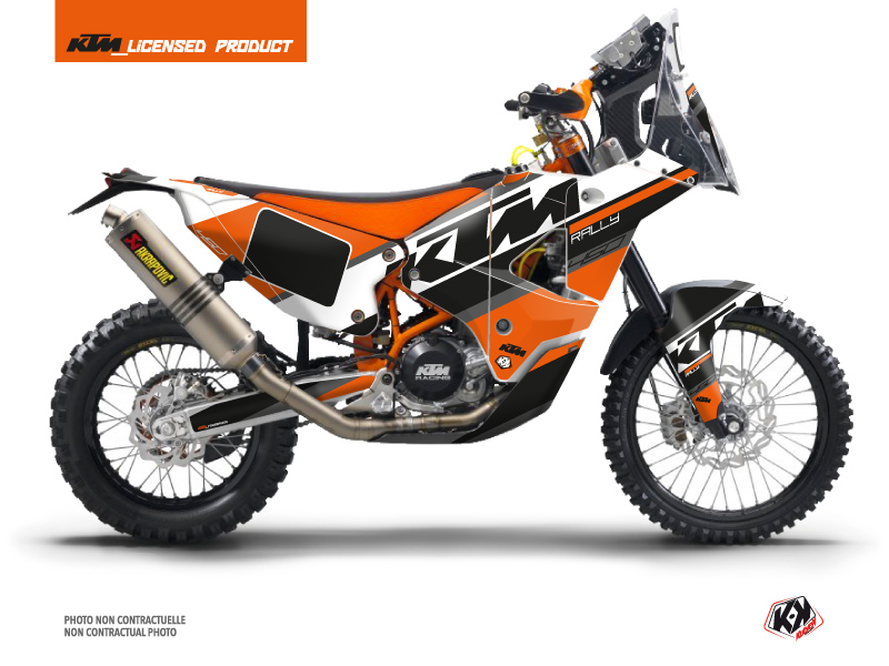 KTM 450 Rally Dirtbike Kontrol Graphic Kit Orange