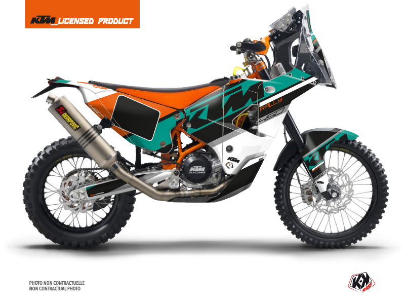 KTM 450 Rally Dirtbike Kontrol Graphic Kit Orange White