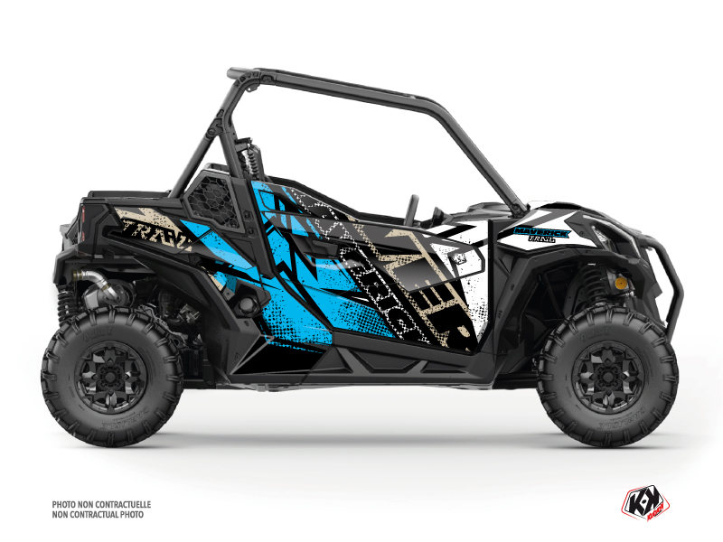 Can Am Maverick Trail With Doors UTV Kraft Graphic Kit White Blue