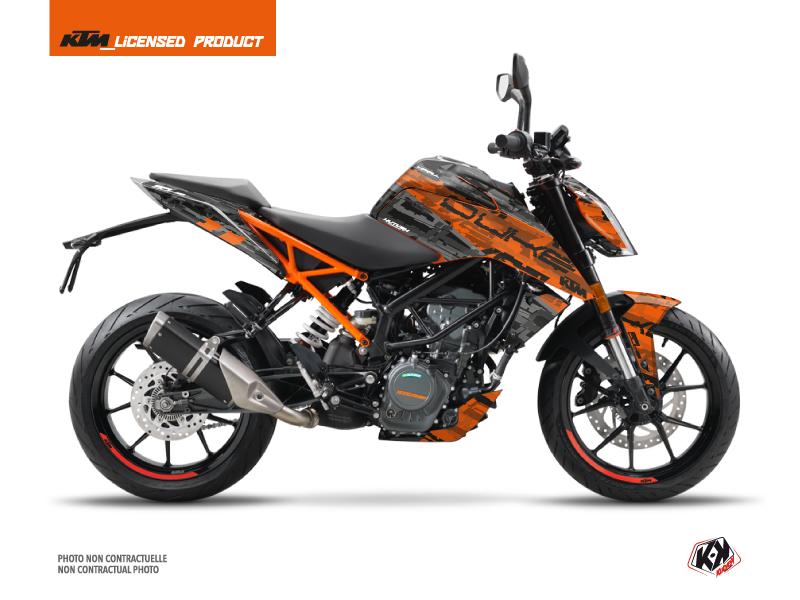 Kit Déco Moto Krav KTM Duke 125 Orange Noir