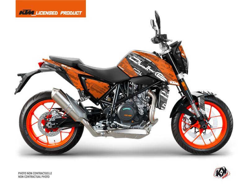 KTM Duke 690 R Street Bike Krav Graphic Kit Black Orange