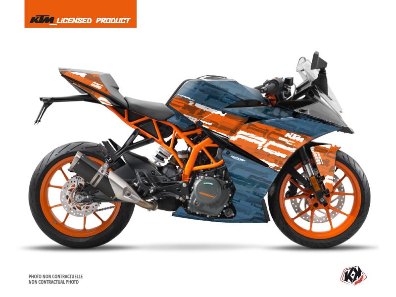 KTM 125 RC Street Bike Krav Graphic Kit Orange Blue