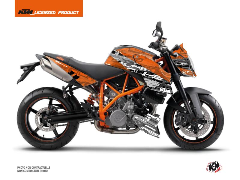KTM Super Duke 990 Street Bike Krav Graphic Kit Black Orange