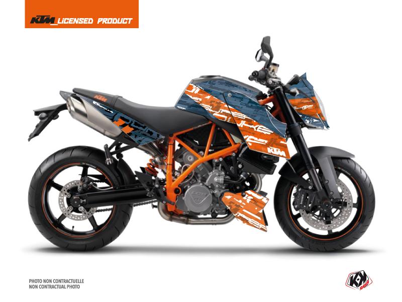 KTM Super Duke 990 Street Bike Krav Graphic Kit Orange Blue